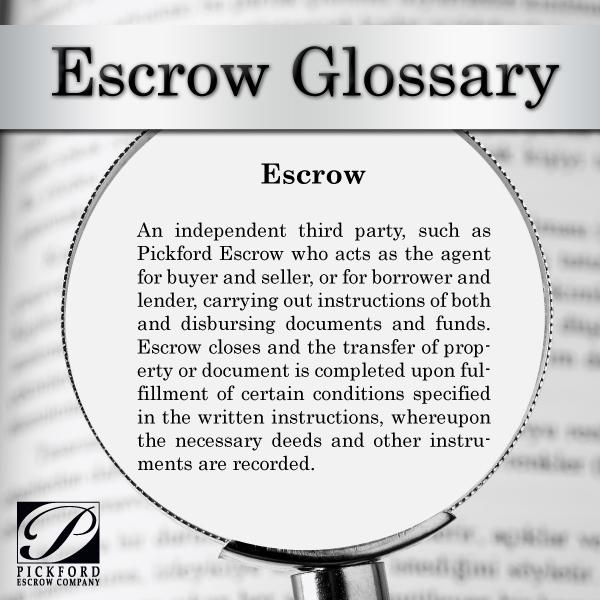 Glossary-Escrow-PEC